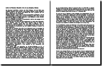 Lettre de Théodore Stoudite à l'un de ses disciples, Nicolas