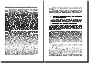 Société Arcelor, commentaire d'arrêt, Conseil d'Etat, 3 juin 2009