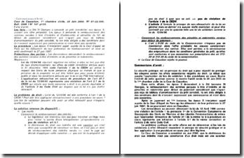 Remboursement des sommes versées à titre d'intérêts et de pénalités, commentaires d'arrêt, Cour de Cassation, 1ère chambre civile, 20 Juin 2000