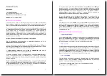 La protection sociale - sources, organismes et mécanismes d'assurance