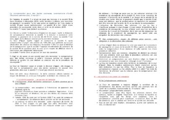 La compensation pour des dettes connexes, commentaire d'arrêt, Chambre commerciale, 3 mai 2011