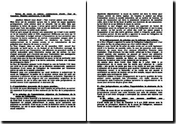 Notion de cause au contrat, commentaire d'arrêt, Cour de Cassation, Chambre commerciale, 9 Juin 2009