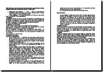 Tarif réduit pour son concubin (couple homosexuel), commentaire d'arrêt, Chambre civile, Cour de cassation, mardi 11 juillet 1989