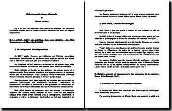 Historiographie franco-allemande : histoire politique