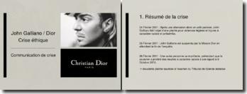 La communication de crise, John Galliano / Dior