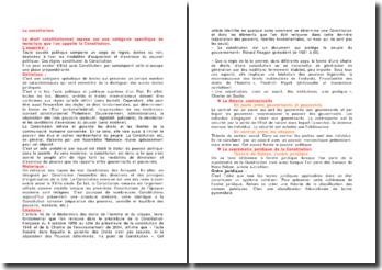 La constitution - Théories contractuelles, diversité et extensions