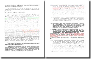 La loi, une compétence du Parlement, mais aussi du gouvernement : le partage de la fonction législative