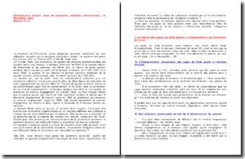 Commentaire d'arrêt de la Chambre commerciale de la Cour de cassation en date du 19 novembre 2003 : la novation