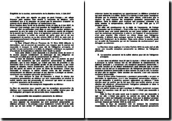 Exigibilité de la caution, commentaire de la chambre mixte, 8 Juin 2007