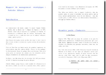 Rapport de management stratégique : Sodexho Alliance