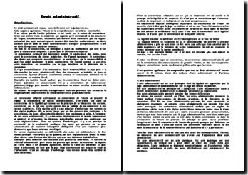 Les sources, la structure et l'action du droit administratif