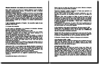 Les origines de la vie parlementaire Française