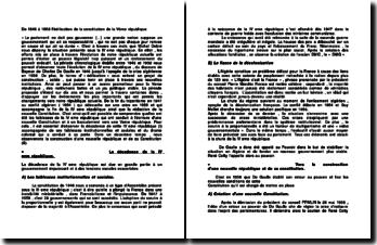 De 1946 à 1958, l'édification de la constitution de la Vème république