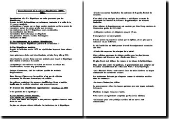 L'enracinement de la culture Républicaine (1879-1914)