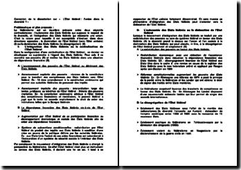 Correction de la dissertation: « L'Etat fédéral : l'union dans la diversité ? »