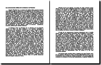 Las consecuencias (bilan) de la dictadura de Pinochet