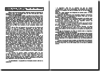 Allocution de M. Marcel Boiteux, texte paru dans L'Institut d'Economie Publique