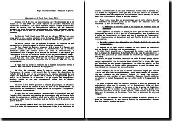 Commentaire de d'arrêt, chambre commerciale, 8 mars 2011: le cautionnement, formation et preuve