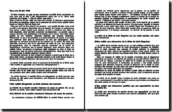 Commentaire d'arrêt de la Chambre commerciale de la Cour de cassation du 22 juin 1999 : le prononcé de nullité d'une société fictive