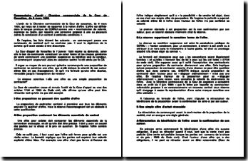 Commentaire d'arrêt de la Chambre commerciale de la Cour de cassation du 6 mars 1990 : la notion d'offre