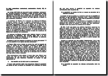 Le plein contentieux contractuel, commentaire d'arrêt, CE, 21 mars 2011