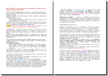 Des tentatives de renouveau dans les méthodes d'évaluation aux règles instaurées par la LOLF