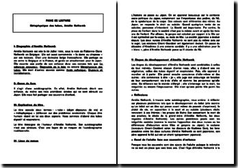 Métaphysique des tubes - Amélie Nothomb -