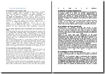 Le bloc de constitutionnalité - Références et valeurs, et écrans administratifs et communautaires