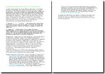 Les différentes catégories d'ordonnateurs, leurs rôles et évolution