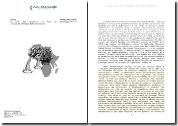 La fuite des cerveaux, un frein au développement ? Le cas de l'Afrique Sub-saharienne