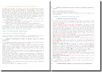 Les normes constitutionnelles, source du droit administratif