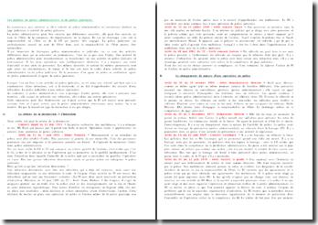 Les notions de police administrative et de police judiciaire