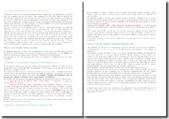 Les sources jurisprudentielles du droit administratif