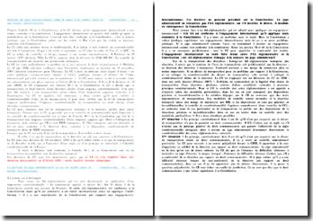 Position du juge constitutionnel dans le cadre d'un conflit entre la constitution et une norme internationale