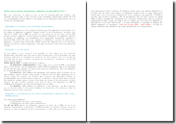 Quelles sont les normes internationales applicables en droit administratif ?