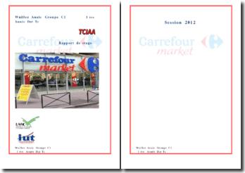 Rapport de stage Carrefour Market