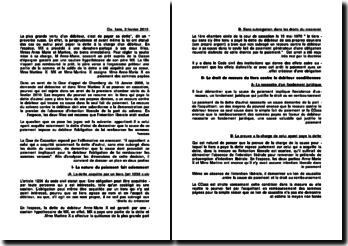 Commentaire d'arrêt de la Première Chambre civile de la Cour de cassation du 3 février 2010 : l'obligation de remboursement