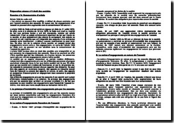 Commentaire de l'article 1836 du Code civil, commentaires comparés d'arrêts de droit civil