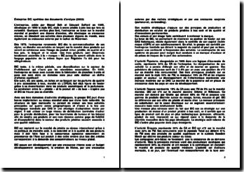 Entreprise BIC: synthèse des documents d'analyse