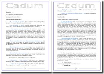 Etude de cas: produits Cadum