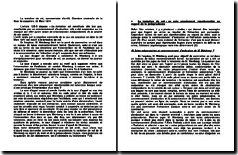 La tentative de vol, commentaire d'arrêt, Chambre criminelle de la Cour de cassation, 20 Mars 1974