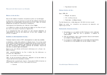 L'audit du Commissariat aux Comptes