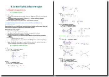 Les molécules polyatomiques