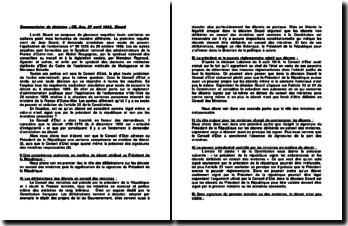 L'arrêt Sicard, commentaire de décision, CE, Ass, 27 avril 1962