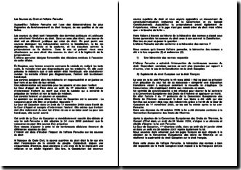 Les Sources du Droit et l'affaire Perruche