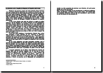 La distinction entre l'enquête de flagrance et l'enquête préliminaire