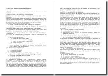 Structure juridique des entreprises