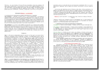 La tentative, les infractions basées sur l'élément matériel et les infractions non intentionnelles