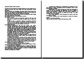 La clause de confidentialité: conditions et renonciation