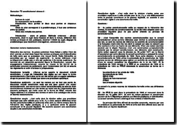 Correction d'un TD constitutionnel sur la hiérarchie des normes et la Constitution